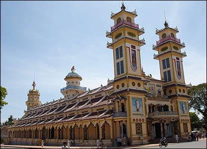 Templo en Tay Ninh, en el sur de Vietnam. Foto: Jolinar.