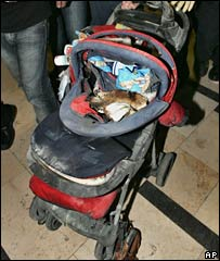 The pram used in the attack