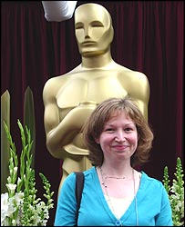 Jackie Finlay on the Oscars red carpet