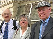Rev. Ian Densham, Susan Marshall, Andrew Charles