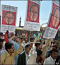 Pakistani protestors during an anti U.S. rally in Rawalpindi, Pakistan