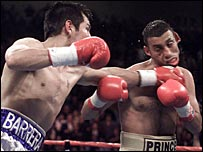 Naseem Hamed (right) came off second best to Marco Antonio Barrera