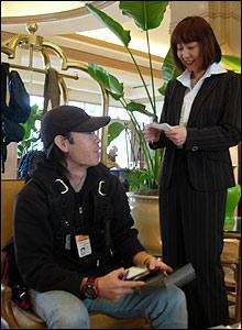 Nippon TV reporter Akiko Imai