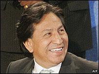Presidente de Per�, Alejandro Toledo.