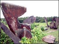 Stone structures in Amapa, Brazil