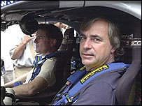 Former world rally champion Carlos Sainz