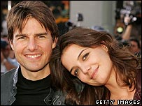 Tom Cruise and actress Katie Holmes