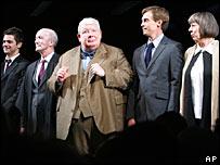 Actors James Corden, Clive Merrison, Richard Griffiths, Stephen Campbell Moore and Frances de la Tour