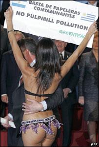 Activista de Greenpeace Evangelina Carrozzo