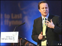 David Cameron at the Welsh Tory conference