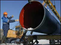 Russian gas pipeline under construction
