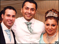 Fadi and Nisha Patel-Nasri with her brother Katen Patel