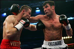 Calzaghe beats German Mariot Veit in May 2005