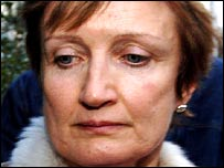 Tessa Jowell arriving back at her north London home