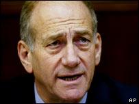 Israel's acting Prime Minister Ehud Olmert