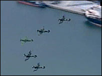 Spitfires over Southampton water