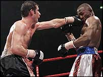 Joe Calzaghe (left) and Jeff Lacy
