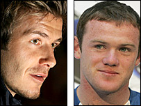 David Beckham (left) and Wayne Rooney