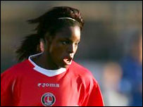 Eniola Aluko scored both goals for Charlton