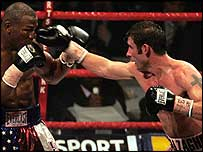 Joe Calzaghe (right) v Jeff Lacy
