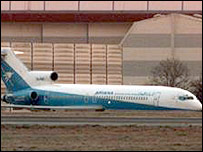 The plane hijacked by the Afghans