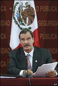 Vicente Fox, presidente de México.