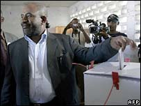 President Azali votes in his home town