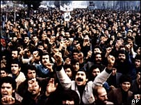 Iranians protest in December 1978