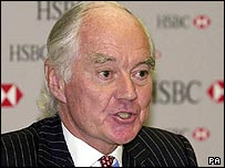 Outgoing HSBC chairman Sir John Bond