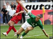 El argentino Diego Klimowicz marc� el gol que decret� la permanencia del Wolfsburgo