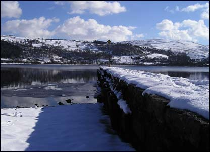 Colin Hanson, from Bala, sent in this view from a jetty across Llyn Tegid