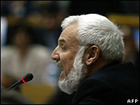 Hamas' Palestinian parliamentary speaker Aziz al-Duwaik chairs the parliament, Ramallah, 06 March 2006