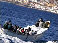 Boat of migrants arrives on Canary Islands