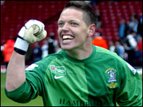 Grays goalkeeper Ashley Bayes
