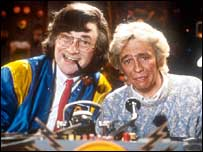 Harry Enfield and Paul Whitehouse in a scene from Harry Enfield's Television Programme