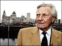 Michael Heseltine in Liverpool on Monday