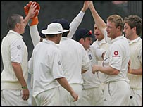England celebrate at Lord's