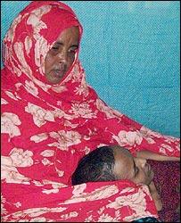Nuuro Salab Farah and her son, Abdirahman (Photo: Ahmed Muhammed Fardolle)