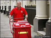 Postal worker in London