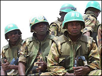 African Union peacekeepers in Gereida