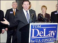 Republican politician Tom DeLay