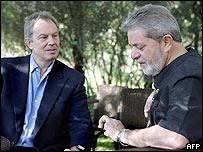 Tony Blair y Lula da Silva.