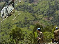 UN peacekeeping troops in DRC
