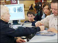 Fingerprinting in Atlanta (file photo)
