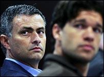 Jose Mourinho and Michael Ballack