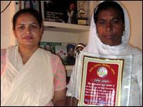 Lakhanpal village Sarpanch Kamlesh with her colleague Jeevan Kumari