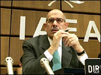 Mohamed ElBaradei at IAEA talks in Vienna