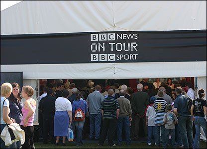 BELFAST - BBC News and Sport on Tour marquee