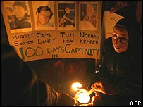 Candle lit vigil in Hebron
