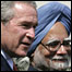 George Bush and Manmohan Singh